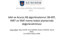 AAA ve Acuros XB algoritmalarının 3B