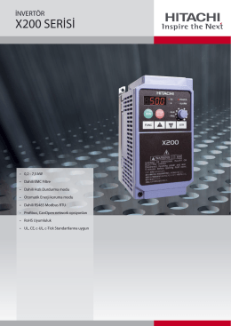 X200 SERİSİ - Otomasyon | Güvenlik