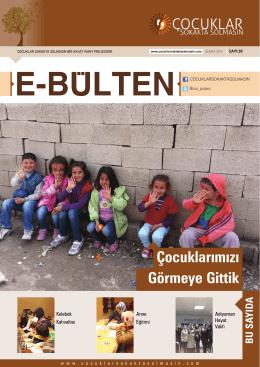 şubat 2014 e-bülten - Çocuklar Sokakta Solmasın