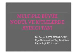 Dr. Selen BAYRAKTAROĞLU Ege Üniversitesi Tıp Fakültesi