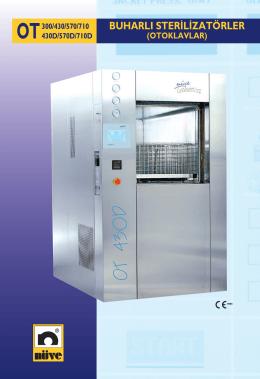 OT 300/430/570/710 Buharlı Sterilizatörler