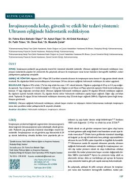 Ultrason eşliğinde hidrostatik redüksiyon