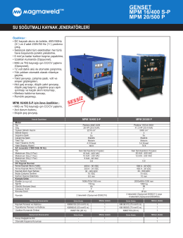 GENSET MPM 16/400 S-P MPM 20/500 P