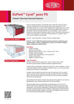 DuPont™ Cyrel® 3000 PS Yüksek Teknoloji Solventli İşlemci