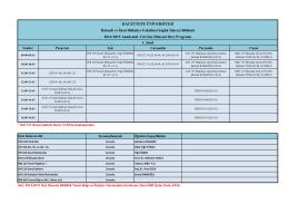 2014-2015 Yılı Güz Dönemi Ders Programı