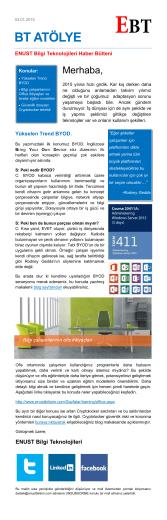 BT ATÖLYE - Enüst Bilgi Teknolojileri