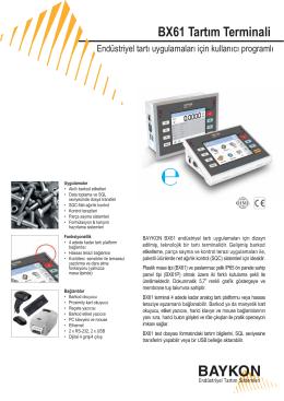 BX61 Tartım Terminali - BAYKON Endüstriyel Tartım Sistemleri