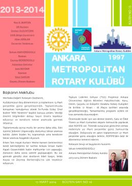 bulten 16 - Ankara Metropolitan Rotary Kulübü