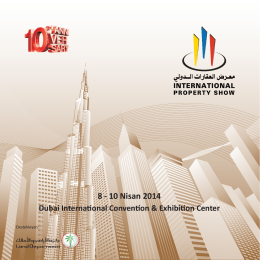 8 - 10 Nisan 2014 Dubai International Convention