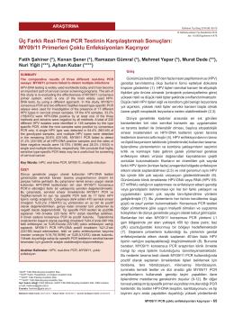 MY09/11 Primerleri Çoklu Enfeksiyonları Kaçırıyor