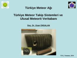 Türkiye Meteor Ağı - TÜBİTAK Ulusal Gökyüzü Gözlem Şenliği