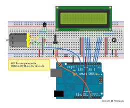 ADC Potansiyometre ile PWM ile DC Motor Hız Kontrolü