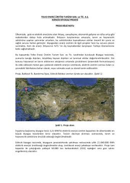 EDİNCİK_BİYOGAZ_SFR_Proje Bilgi Notu