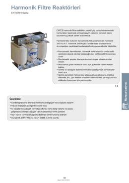 Harmonik Filtre Reaktörleri