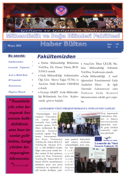 Mayıs - Gümüşhane Üniversitesi Mühendislik Fakültesi