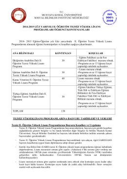 tc mustafa kemal üniversitesi sosyal bilimler enstitüsü müdürlüğü