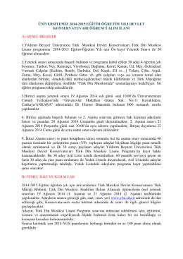 yıldırım beyazıt üniversitesi devlet konservatuarı 2014