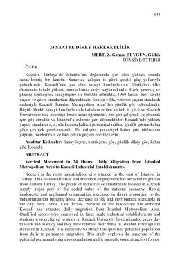 MERT, Z. Gamze-DUYGUN, Gülhis-24 SAATTE DİKEY