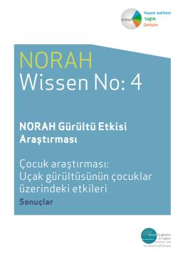 NORAH Gürültü Etkisi Araştırması Çocuk araştırması: Uçak