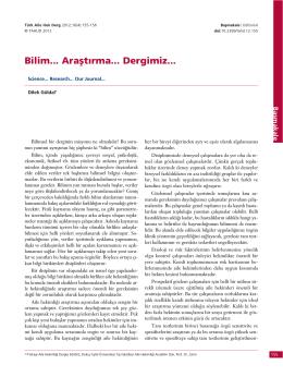 PDF - Bilim… Araştırma… Dergimiz…