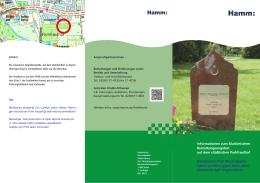 Flyer zum muslimischen Bestattungsangebot