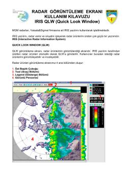 Radar Görüntüleme Ekranı Kullanım Kılavuzu