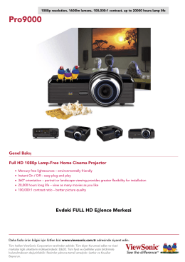 Genel Bakış Full HD 1080p Lamp-Free Home Cinema