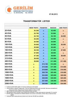 trafo fiyatları - ( 20140807112702 )