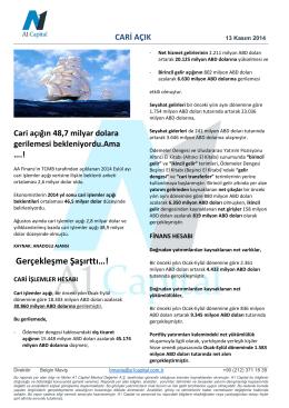 CARI ACIK - A1 Capital