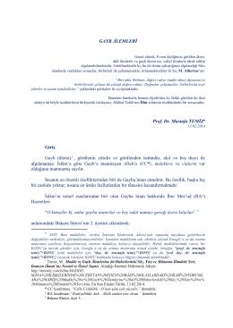 Gayb Âlemleri (pdf)