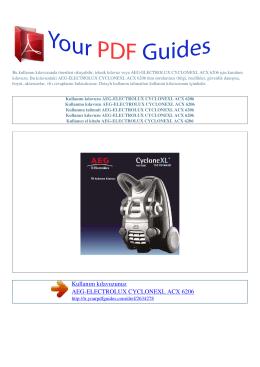 Kullanma talimati AEG-ELECTROLUX CYCLONEXL ACX 6206
