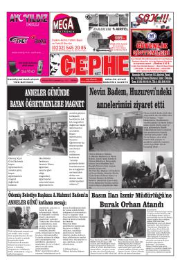 10.05.2014 Tarihli Cephe Gazetesi
