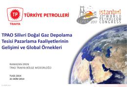 Ramazan Eren - Türkiye Uluslararası Yeraltı Doğal Gaz Depolama