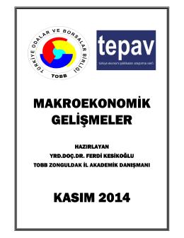 2014 Ekonomik Rapor - Zonguldak Ticaret ve Sanayi Odası