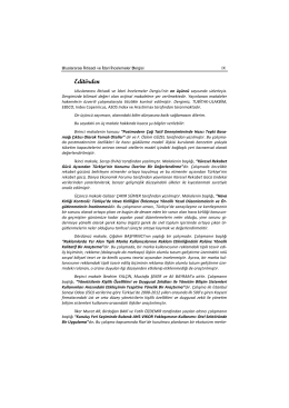 Editorial - Uluslararası İktisadi ve İdari İncelemeler Dergisi