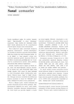 Sanal Cemaatler, Birikim Dergisi, Kasim, 1999.