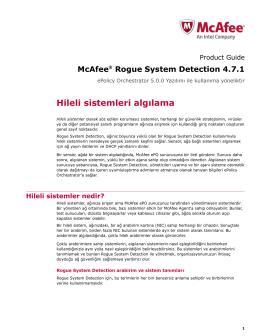 Rogue System Detection sayfası
