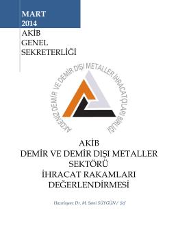 Mart 2014 - Akdeniz İhracatçı Birlikleri