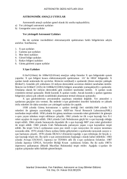 Astronotik_2014_10 - Astronomi ve Uzay Bilimleri Bölümü