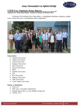 Uzay Teknolojileri ve Eğitimi Birliği