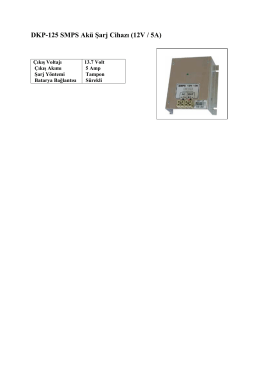 DKP-125 SMPS Akü Şarj Cihazı (12V / 5A)