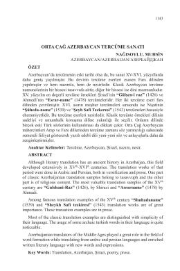 orta çağ azerbaycan tercüme sanatı