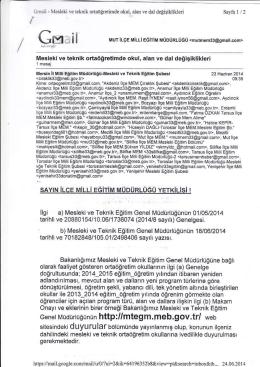 Genel [rüdürlüğünün http://mtegm.meb,gov.tf/ web