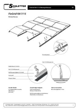 FixGrid100 7/15 - Schletter GmbH