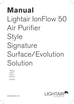 LightAir İyonizer Hava Temizleyici Türkçe Kullanım Kılavuzu