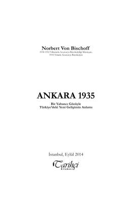 ANKARA 1935 - Tarihçi Kitabevi