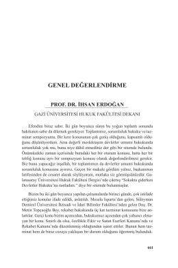 Prof. Dr. İhsan ERDOĞAN