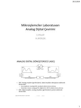 Mikroişlemciler Laboratuvarı Analog Dijital Çevirimi