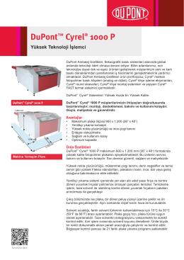 DuPont™ Cyrel® 1000 P Yüksek Teknoloji İşlemci