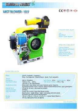 Çevre Sağlığı Ürünleri - Mist Blower İlaçlama Makinası